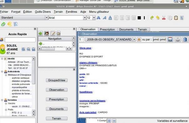 Capture d'écran Medintux