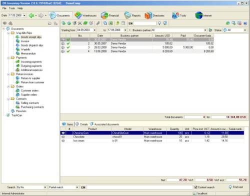 Capture d'écran OK-Inventory FE