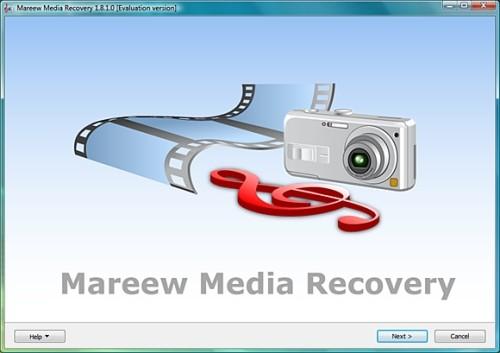 Capture d'écran Mareew Media Recovery