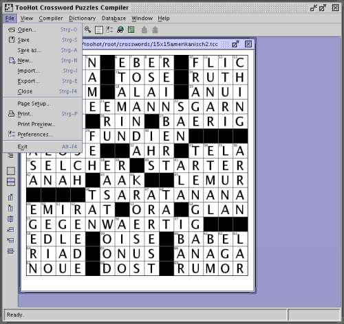 Capture d'écran Arensus Crossword Puzzle Editor