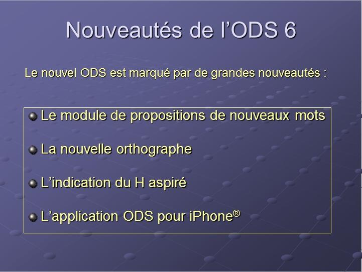 Capture d'écran ODS Scrabble