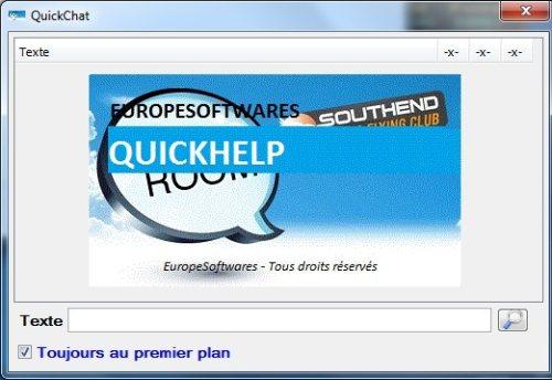 Capture d'écran QuickHelp Linux