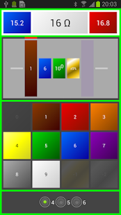 Capture d'écran Code couleur des résistances