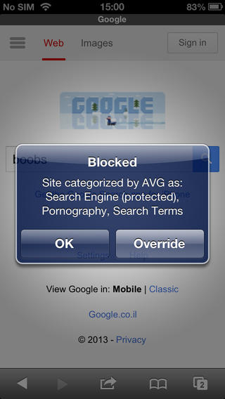Capture d'écran AVG Family Safety iOS