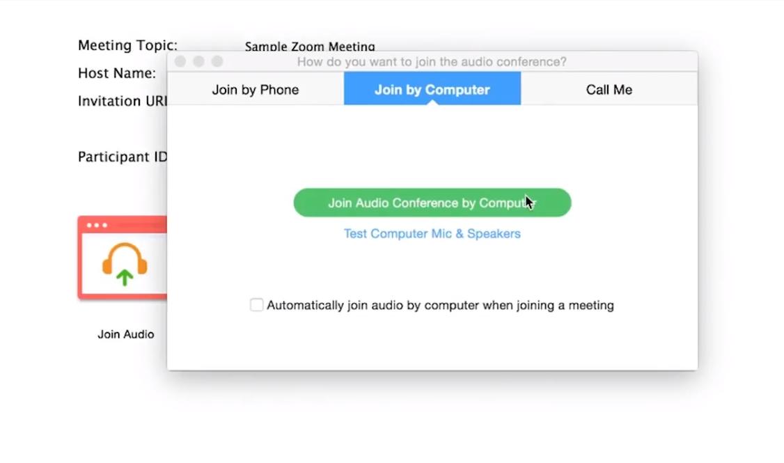 Capture d'écran Zoom – Visioconférence d'entreprise
