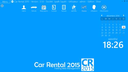 Capture d'écran Car Rental 2015