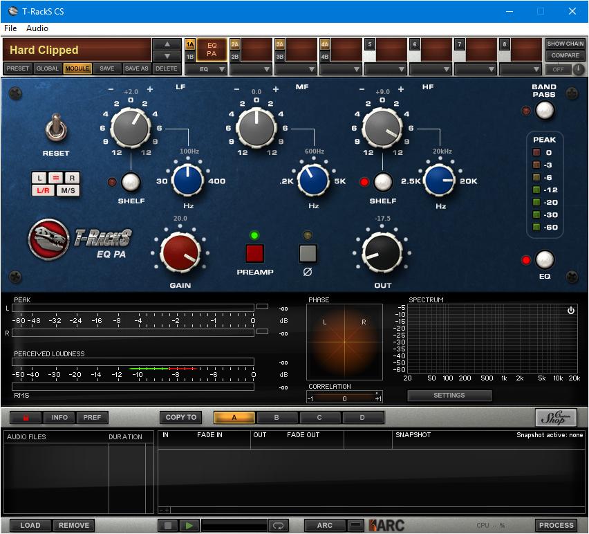 Capture d'écran T-RackS CS