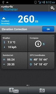 Capture d'écran Runtastic Altimètre PRO