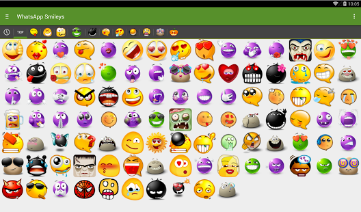 Capture d'écran WhatSmileys: meilleurs smileys