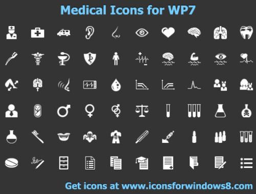 Capture d'écran Medical Icons for WP7