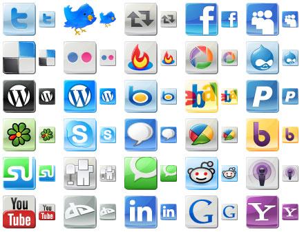 Capture d'écran Free Social Media Icons