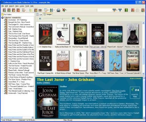 Capture d'écran Collectorz.com Book Collector