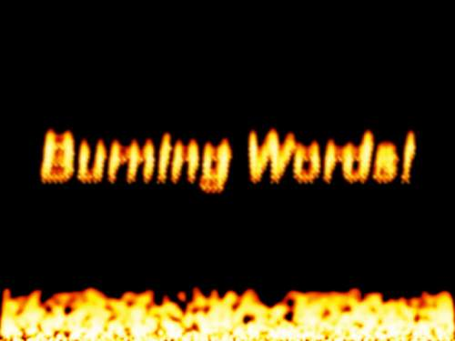Capture d'écran Burning Words Screensaver