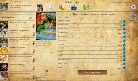 Capture d'écran Chicken recipes
