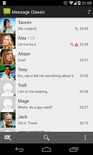 Capture d'écran Messaging Classic – 4.4 Kitkat