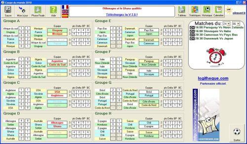 Capture d'écran Coupe du monde 2010