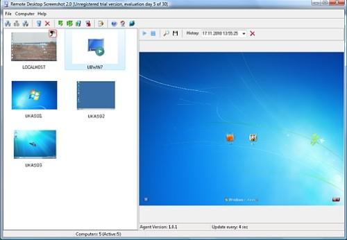 Capture d'écran Remote Desktop Screenshot