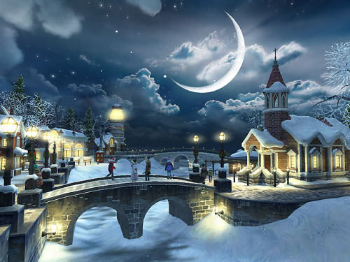 Capture d'écran Snow Village 3D Screensaver