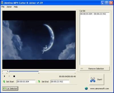 Capture d'écran AimOne MP4 Cutter & Joiner