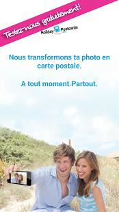Capture d'écran Carte postale de vacances