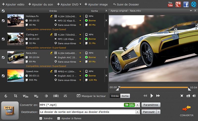 Capture d'écran Movavi Video Converter for Mac