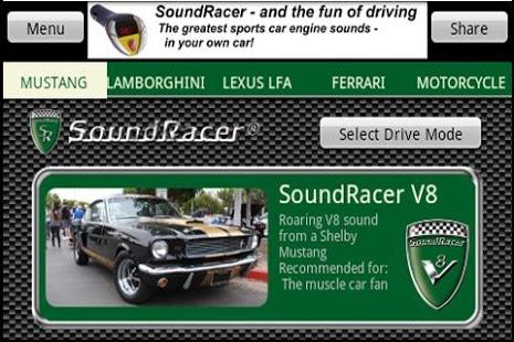 Capture d'écran SoundRacer FREE Car Sounds
