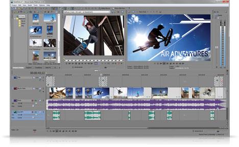 Capture d'écran Sony Imagination Studio Suite