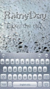 Capture d'écran RainyDay for Emoji Keyboard