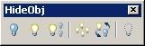 Capture d'écran HideObj pour AutoCAD 2007/2008