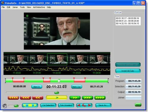 Capture d'écran VideoReDo Plus