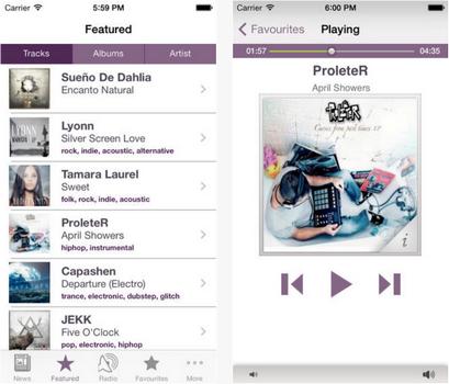 Capture d'écran Jamendo iOS