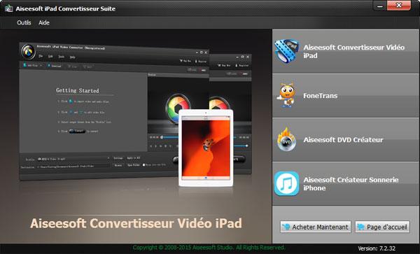 Capture d'écran Aiseesoft iPad Convertisseur Suite