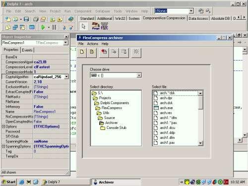 Capture d'écran FlexCompress