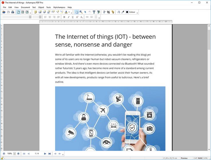 Capture d'écran Ashampoo PDF Free