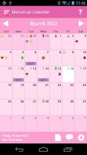 Capture d'écran Calendrier Menstruel Premium