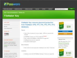 Capture d'écran FileMaker Key