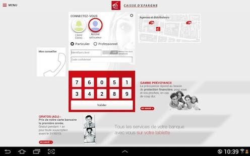 Capture d'écran Banque pour tablettes Android