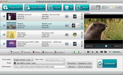 Capture d'écran 4Videosoft Convertisseur Vidéo Ultimate pour Mac
