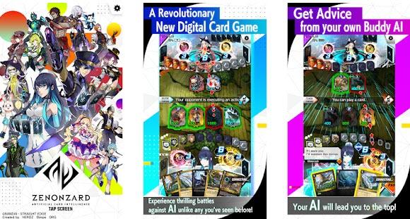 Capture d'écran ZENONZARD Artificial Card Intelligence Android
