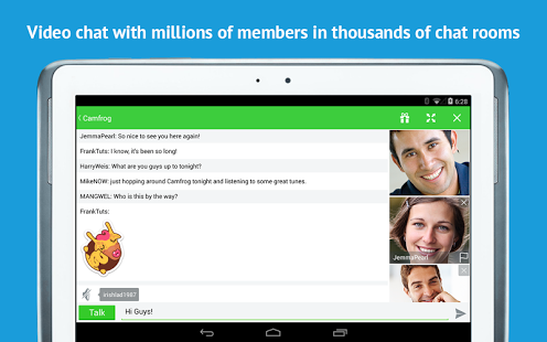 Capture d'écran Camfrog – Group Video Chat