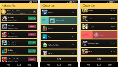 Capture d'écran Ad Blocker Plus Android