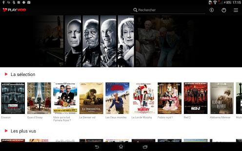 Capture d'écran PlayVOD – Films à télécharger