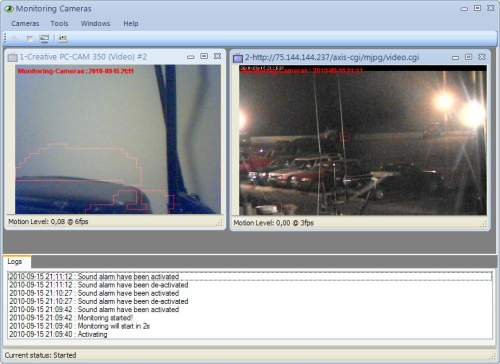 Capture d'écran Monitoring Cameras