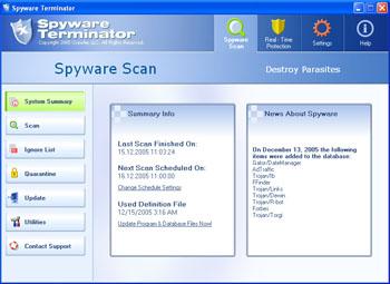 Capture d'écran Spyware Terminator