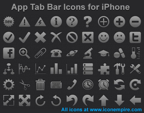 Capture d'écran App Tab Bar Icons for iPhone