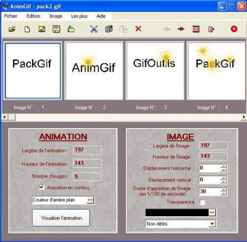 Capture d'écran AnimGif