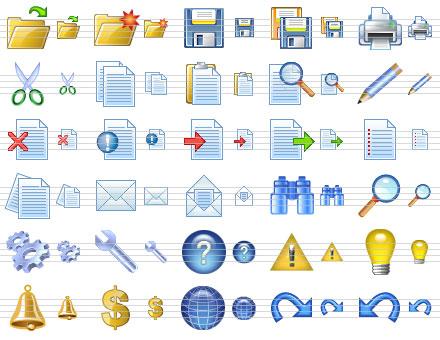 Capture d'écran Application Toolbar Icons
