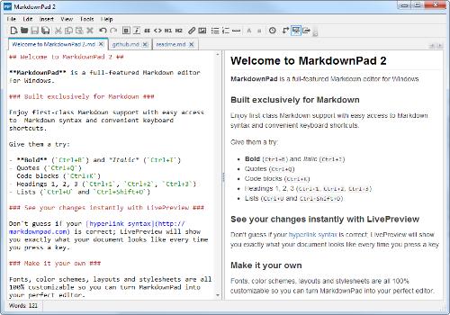 Capture d'écran MarkdownPad