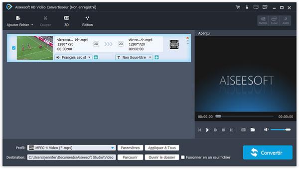 Capture d'écran Aiseesoft HD Vidéo Convertisseur