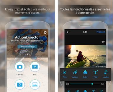 Capture d'écran ActionDirector Android
